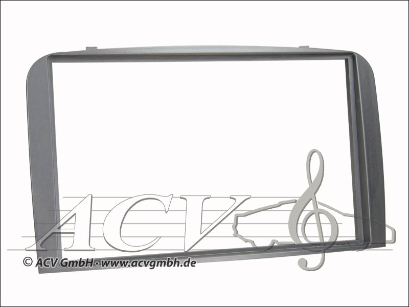 Radioblende Rubber Touch Alfa 147 / GT silver double DIN