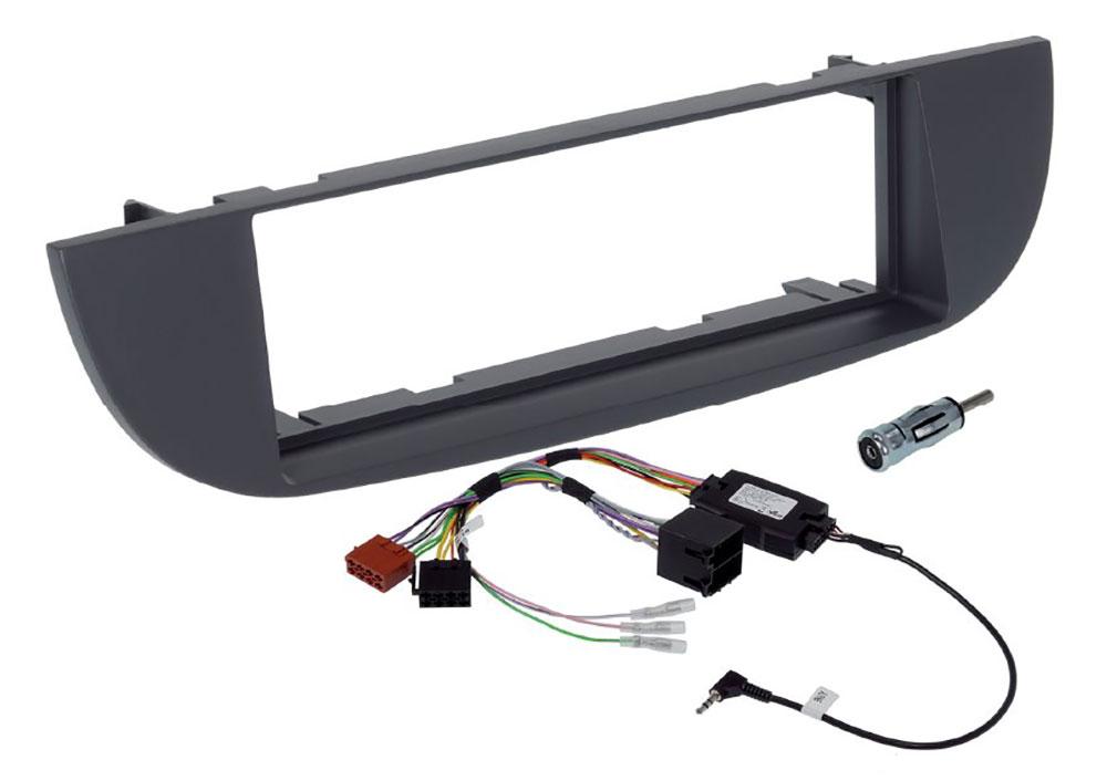 Alpine KIT-F9FI-312G Installations-Set für iLX-F903D/INE-F904D im Fiat 500 (Modell 312, 2007-2014 )