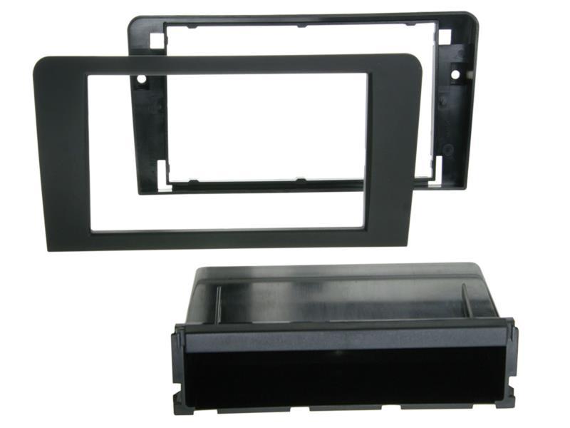 Radioblende 2-DIN PRO Version mit Ablagefach 2-DIN RB mit Fach PRO Audi A 3 (8P / 8PA) schwarz ACV 281320-14-PRO