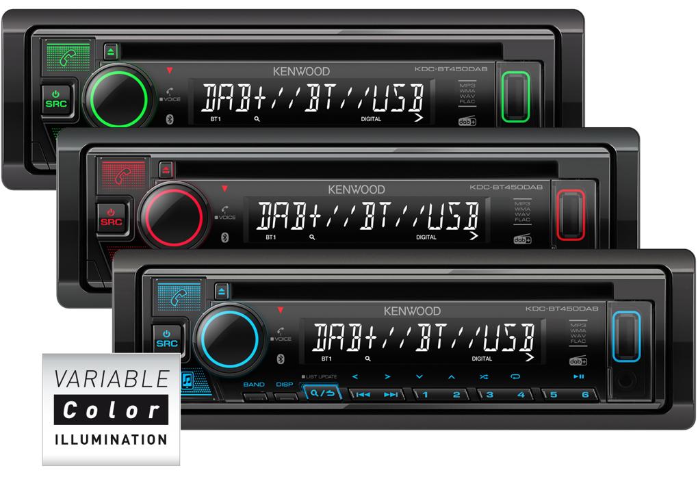 KENWOOD KDC-BT450DAB CD/USB-Receiver mit Bluetooth & DAB+ Digitalradio DAB+ Bluetooth USB