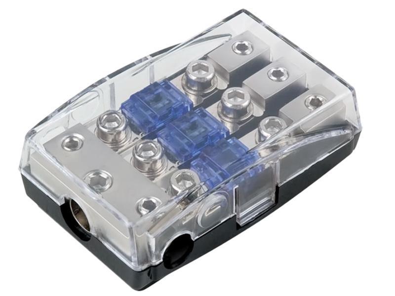 ACV 30.3804-03s Mini ANL fuse holder ( silver ) 1 x 35 mm² + 2 x 20 mm²
