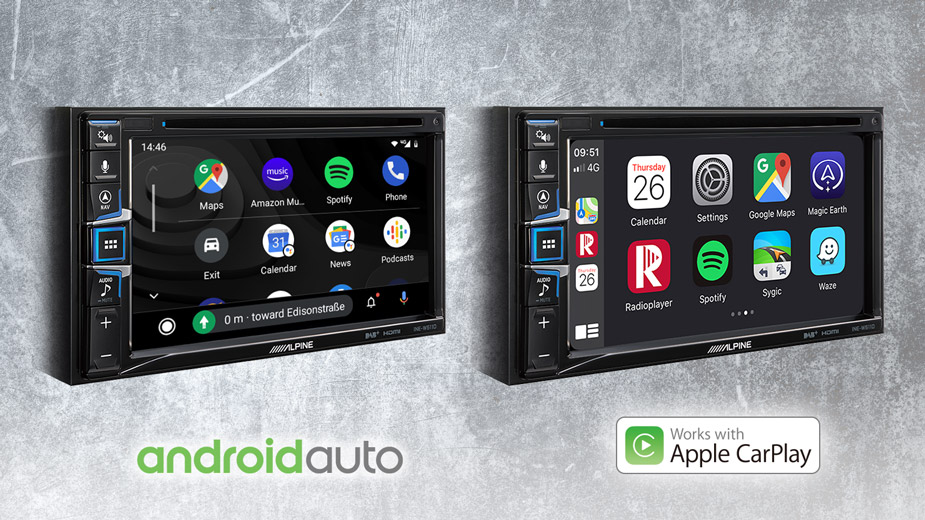 Alpine INE-W611DC Navigationssystem mit Reisemobilsoftware, DAB+, 16,5 cm (6,5-Zoll) Display, CD/DVD Wiedergabe, Apple CarPlay und Android Auto Unterstützung