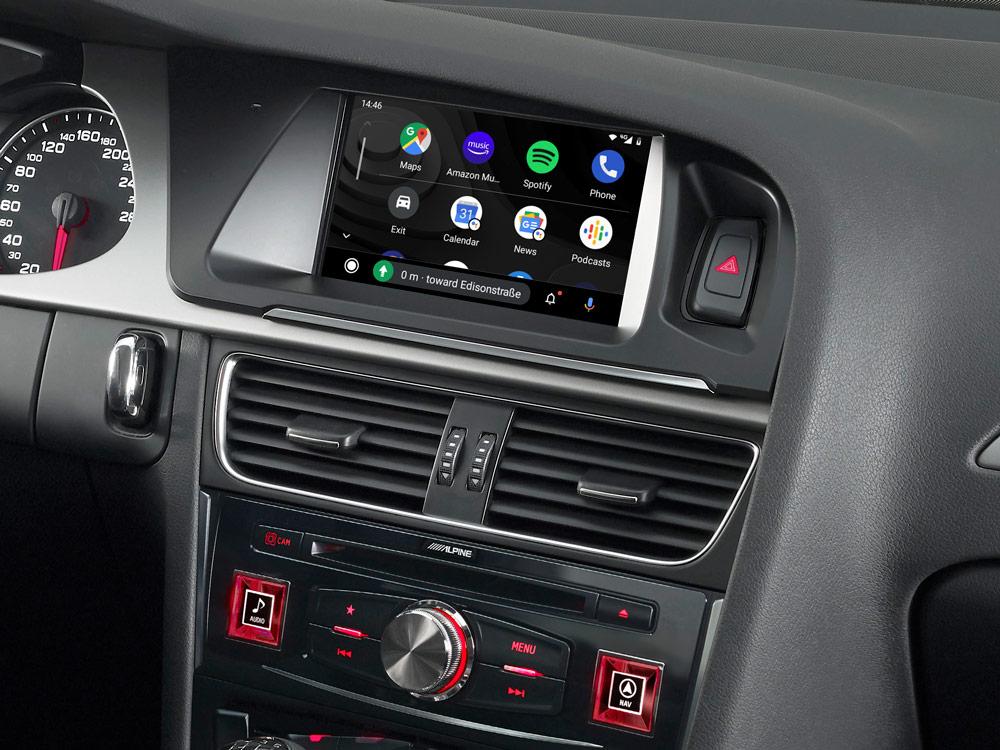 Alpine X703D-A4 7-Zoll Premium-Infotainment-System für Audi A4 mit Navigationssystem, Apple CarPlay und Android Auto Unterstützung