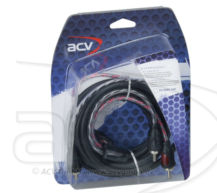 ACV 30.4980-300 2-Channel RCA Cable 3 meter - SYMPHONY series