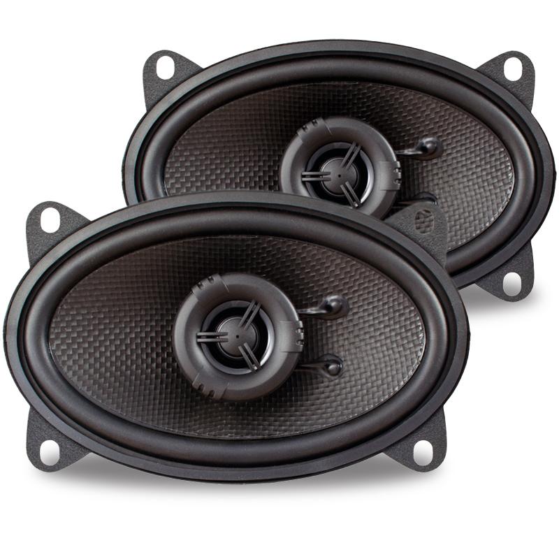 """AMPIRE CP460 Koaxial-Lautsprecher ohne Gitter, 4""""x 6"""" Coax Speaker 1 Paar (2 Stück)"""