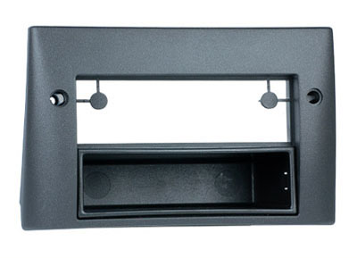 RTA 001.304-0 2 - DIN mounting frame, Black ABS