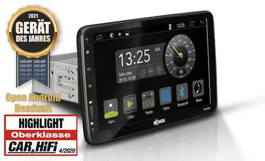 "RADICAL R-D111 10.1"" 1DIN DAB+ Infotainer (HDMI) Android Autoradio TFT"