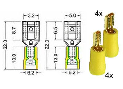 RTA 152.102-0 Assortiment renferme des récipients dorés