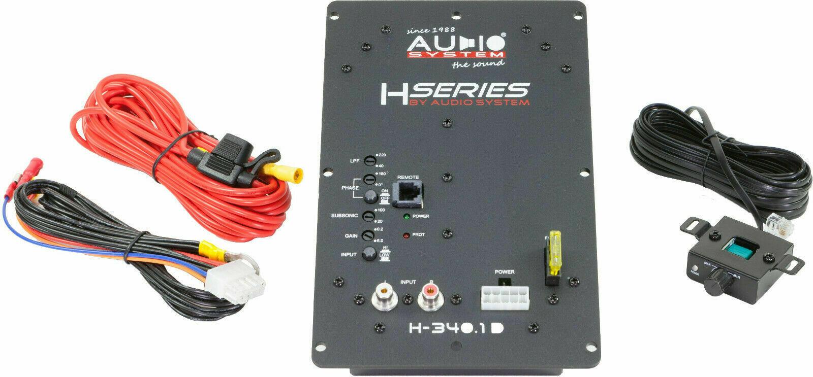 Audio System M-350.1 D 1-Kanal Mono Digital Verstärker 350 Watt RMS
