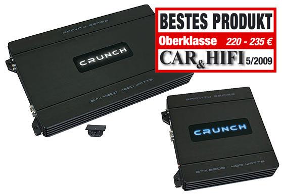 CRUNCH GTX-4600 4-Kanal Verstärker GRAVITY AMP GTX4600