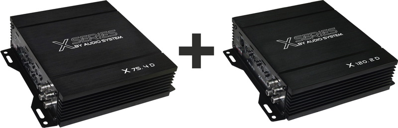 Audio System 6-Pack X--ION-SERIES 6-Kanal Paket ( X-80.4D + X-150.2D )