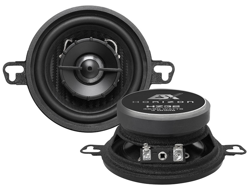ESX HZ-32 HORIZON Koax 8,7 cm 2-Wege Koax-Lautsprecher (Paar) 90 Watt