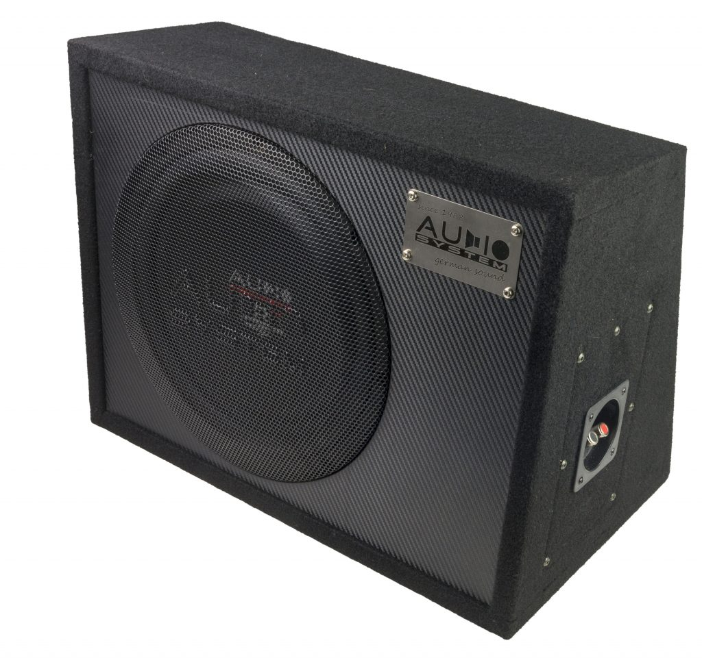 Audio System R 10 FLAT G ACTIVE EVO 25cm aktiver Subwoofer geschlossenes Gehäuse