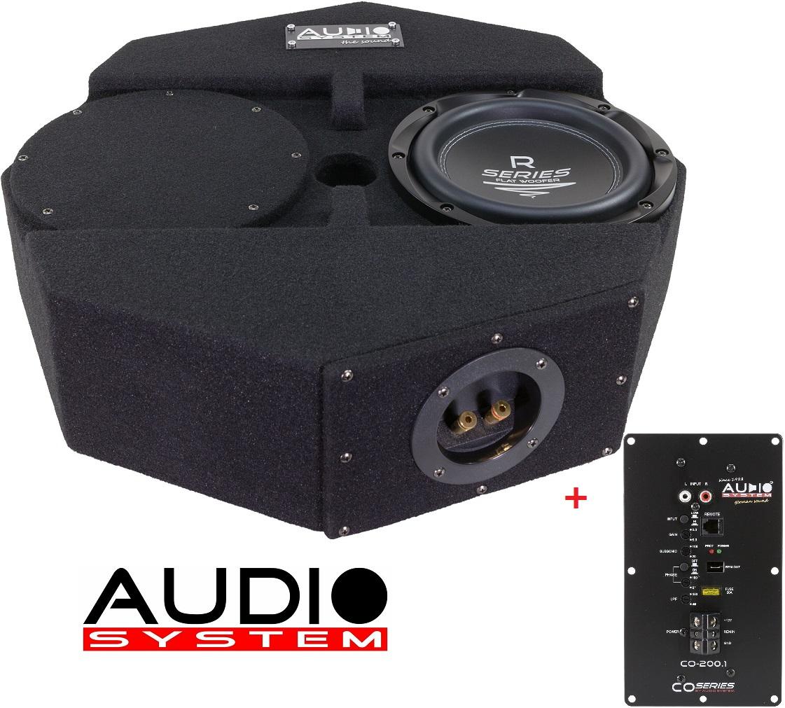 AUDIO SYSTEM SUBFRAME R08 FLAT ACTIVE Gehäuse Subwoofer + Monoendstufe