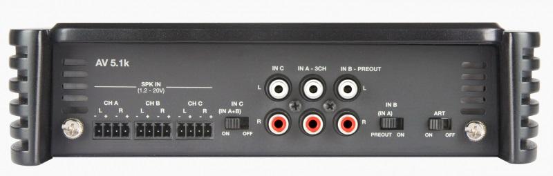 Audison Voce AV 5.1k 5 Kanal High End 5 CHANNEL AMPLIFIER 2x75W+2x250W+1x1000W