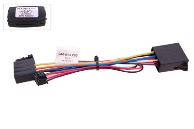 RTA 013.280-0 Steering wheel with steering wheel remote control adapters for vehicles without CAN bus controller
