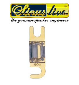 Sinus Live Mini-ANL-fuses, gold plated, 80A, unit