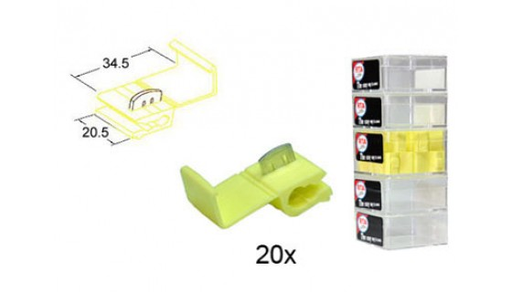 RTA 151.403-2 Branching connector , YELLOW 20,5x34,5 mm in 20er Pack