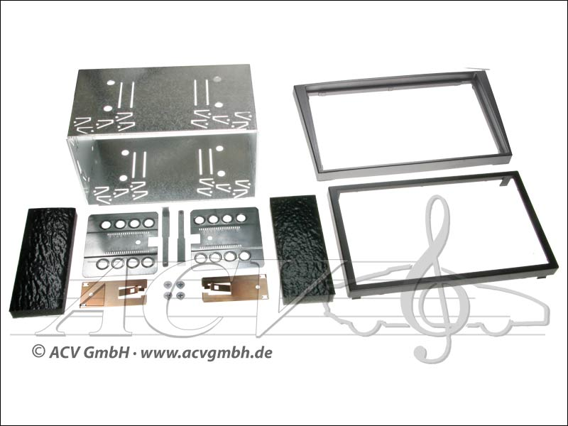 Double-DIN installation kit rubber touch Opel 2000 -> Colour: anthracite