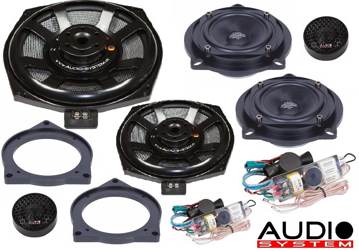 Audio System X 200 BMW Plus EVO X-Series 3 Wege Teil-Aktiv Front System für BMW E60,61,81,82,84,87,88,90,91,92
