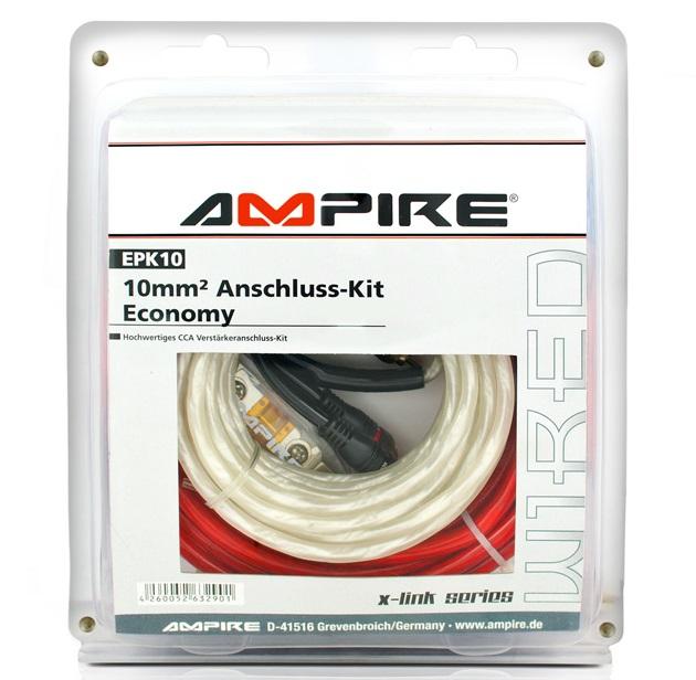 AMPIRE EPK10 Power-Kit 10mm² (Economy) Verstärker-Anschlußkabel-Set