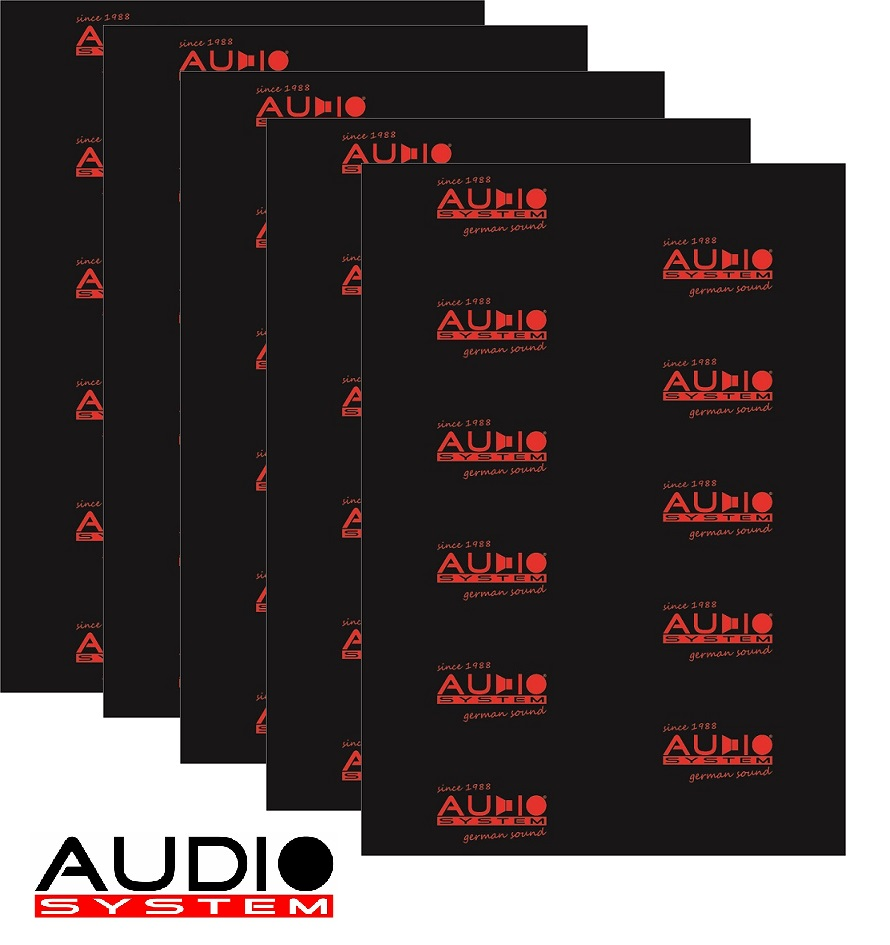AUDIO SYSTEM ALUBUTYL 3000 EVO ALUBUTYL Dämmaterial mit starker Aluschicht - 5 Stück