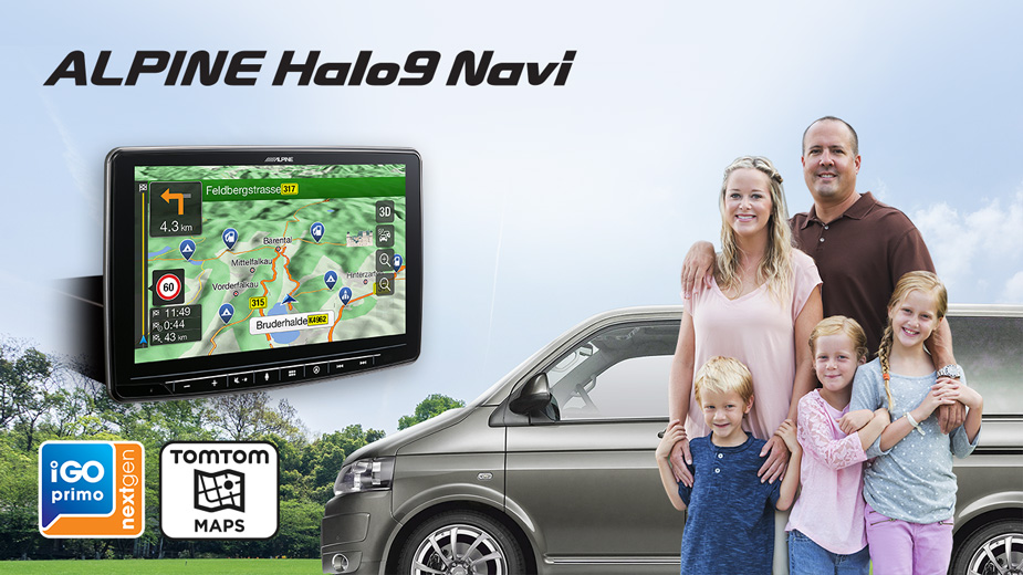Alpine INE-F904D 1-DIN Navigationssystem mit 9-Zoll Touchscreen, DAB+, HDMI und Apple CarPlay /Android Auto