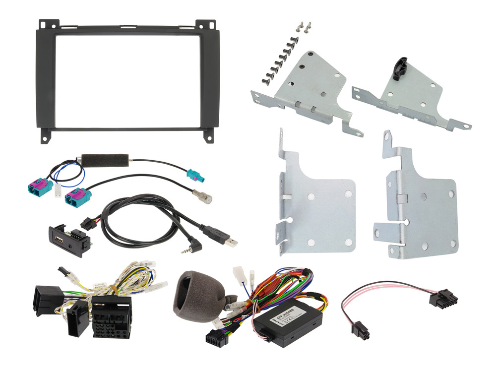 Alpine KIT-802-447 Einbauset mit CAN-Bus Interface und Unterstütung der Lenkradfernbedienung & Kombiinstrument-Anzeige für Mercedes Vito (447)