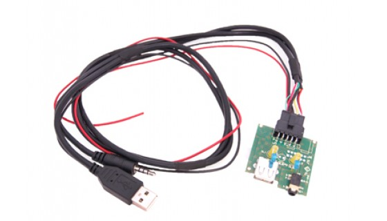 RTA 005.479-0 Kit de câble USB pour des véhicules spécifiques , SsangYong KorandoC USB 2.0 + AUX connecteur L = 68cm