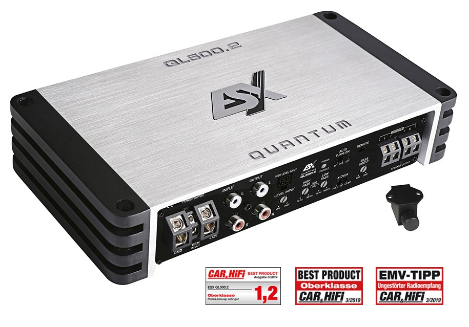 ESX QL500.2 QUANTUM Digital 2CH AMP 2-Kanal Class D Digital Verstärker 500 Watt RMS