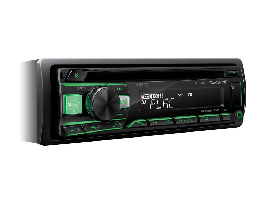 Alpine CDE-201R CD/USB RECEIVER MIT USB CONTROLLER Autoradio RDS-Tuner