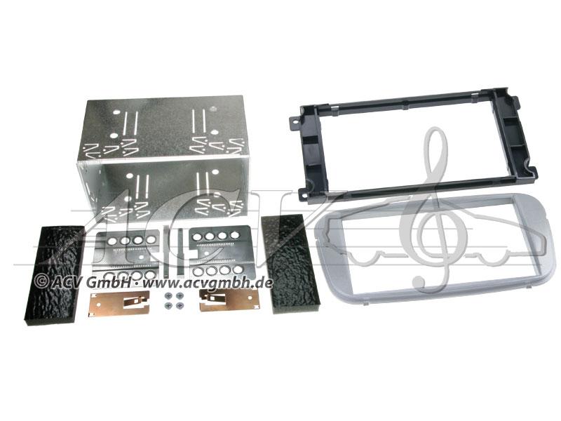 Double-DIN kit di montaggio Ford gomma Touch 2007 - Colore>: argento