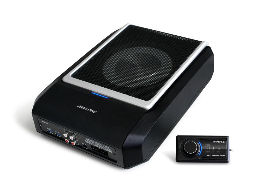 Alpine PWD-X5 4.1 DSP-Verstärker mit Subwoofer Aktiver Subwoofer mit 4.1-Kanal DSP und Verstärker