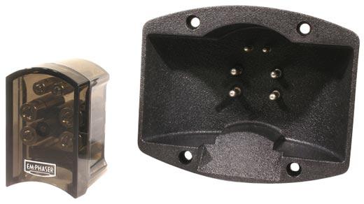 EMPHASER ESP-T2 Subwoofer Terminal, Speaker Teminal, Anschlussdose, 2- teilig