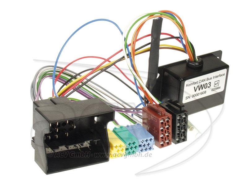 ACV CAN-VW03-TEL Seat / Skoda / VW CAN-BUS adaptateur pour un travail
