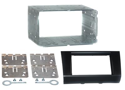 RTA 002.433-0 Doppel DIN Einbaurahmen ABS schwarz mit Blechrahmen SUZUKI Swift alle Modelle 89 ->