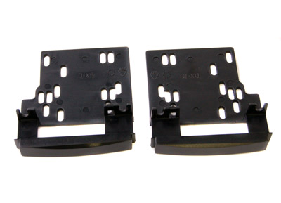 RTA 002.050-0 Support for double-DIN radios, black ABS