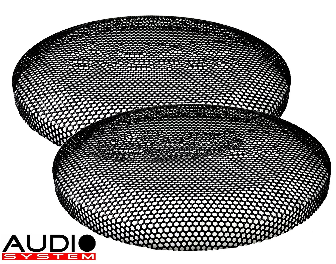 AUDIO SYSTEM GI 08 Subwoofergitter schwarz mit LOGO 1 Paar