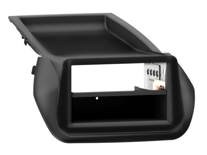 ACV 281040-13 2 - DIN plaque de planche de bord avec poche Fiat / Citroën / Peugeot noire