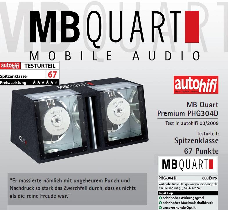 MB QUART PHG 304 D DUAL BANDPASS 2000 Watt PHG304