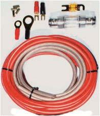 Autoleads CK-100 10mm² Kabelkit mit Powerkabel rein Kupfer ofc 99,9% Verstärkeranschlußset