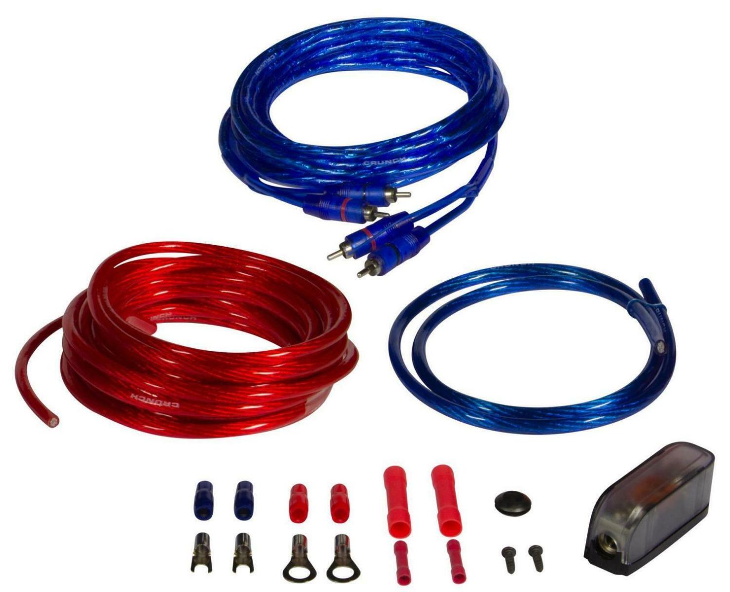 CRUNCH CRK10 Kabelkit 10 mm² Verstärker Kabelkit Anschlußset AMPs
