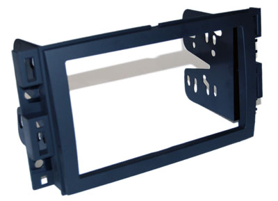 RTA 002.485-0 Double DIN mounting frame black ABS