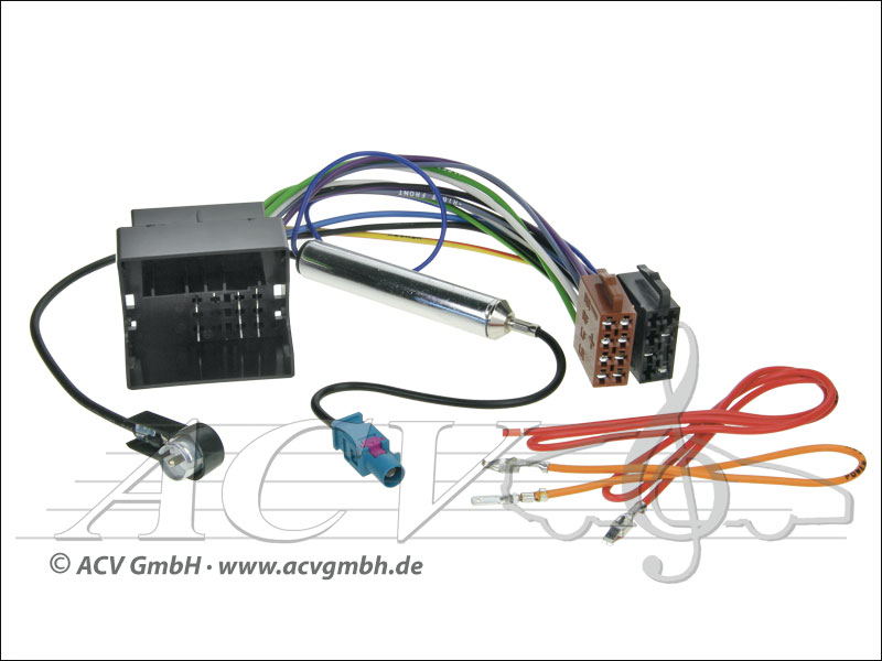 ACV 1324-45 Audi / Seat / Skoda / VW ISO avec alimentation fantôme