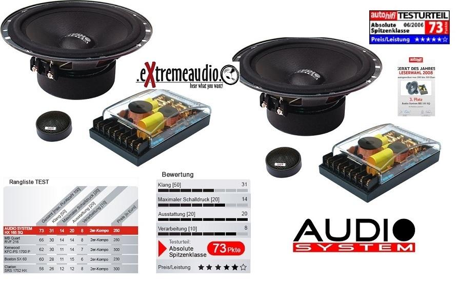 Audio System HX 165 SQ 165 mm, 2-way high-end COMPO-HX165