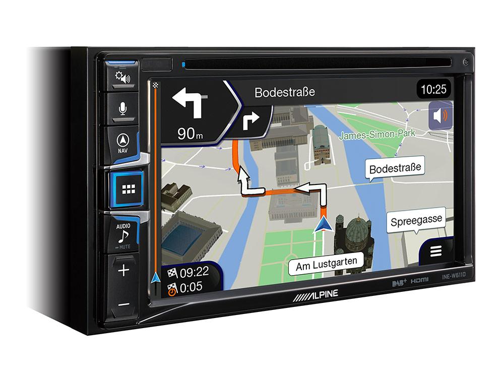 Alpine INE-W611D Navigationssystem mit DAB+, 16,5 cm (6,5-Zoll) Display, CD/DVD Wiedergabe, Apple CarPlay und Android Auto Unterstützung