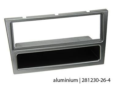 ACV 281230-26-4 Opel Doppel-DIN Blende mit Ablagefach aluminium