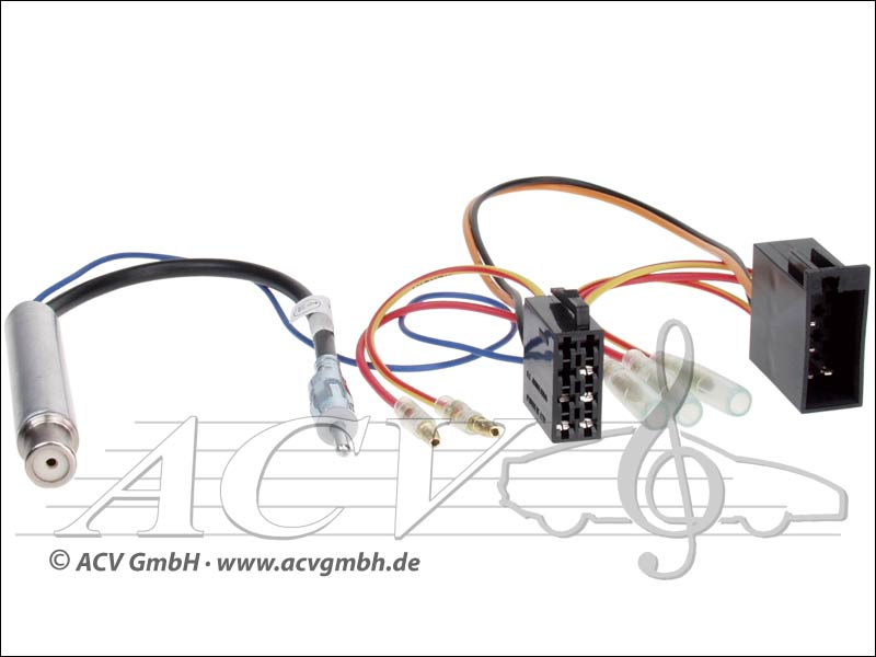 ACV 1321-46 Audi / Seat / Skoda / VW adaptateur dantenne DIN