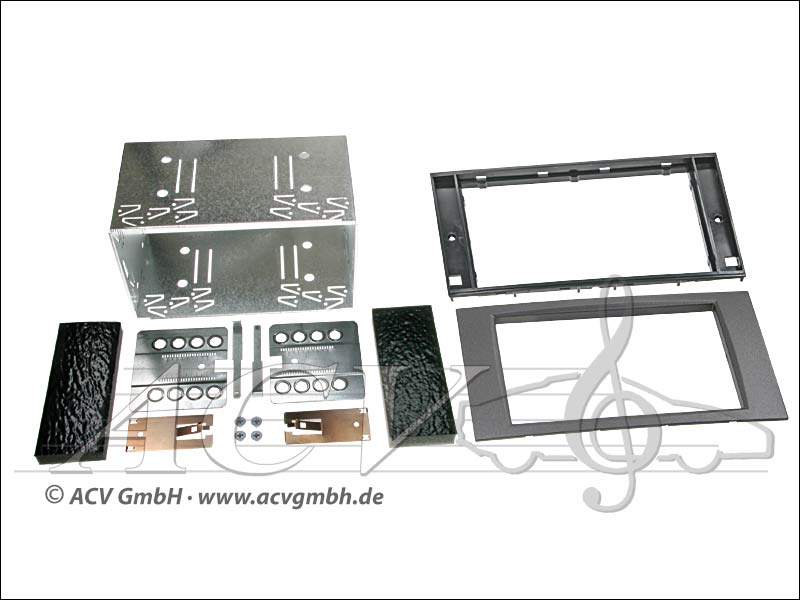 Double-DIN installation du kit Ford caoutchouc Touch 2005 - anthracite>