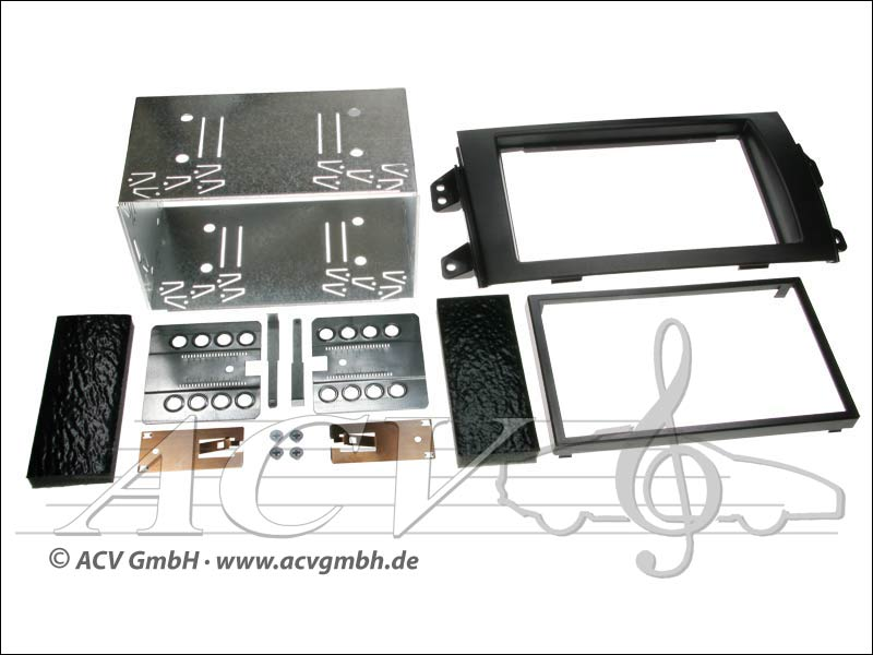 ACV 381094-17 Doppel-DIN Einbaukit Fiat Sedici 2006-> Suzuki SX4 2006->